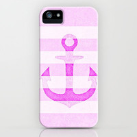 *** Vintage Anchor Pink *** iPhone & iPod Case by M✿nika  Strigel for iphone 5 + 4S + 4 + 3 GS + 3 G + ipod Touch + Samsung Galaxy available
