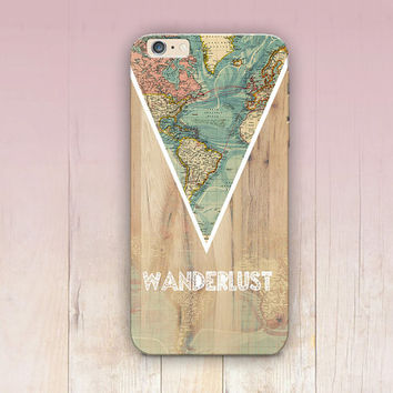 Wanderlust Wood Print Phone Case For - iPhone 6 Case - iPhone 5 Case - iPhone 4 Case - Samsung S4 Case - iPhone 5C - Tough Case - Matte Case