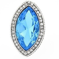Cocktail Style Stretch Ring - Sky Blue