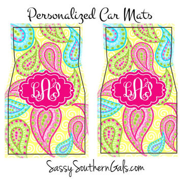Monogrammed Car Floor Mats, Monogrammed Car Accessories, Monogrammed Gift, Personalized Car Mats, Personalized Gift