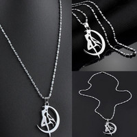 Sailor Moon Crystal Pendant Necklace Anime Peripheral Sailor Moon Necklace Vintage Accessories Jewelry Collar SM6