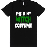 This Is My Witch Costume-Female Black T-Shirt