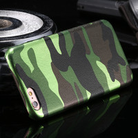 Camouflage Design Leather + Plastic Hard Back Case Cover For iPhone 5 5S For iPhone SE Slim Luxury Colorful Printed Phone Cases