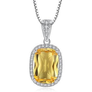Golden Glow Austrian Crystal Halo Necklace