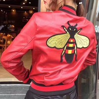 VONE05 Gucci Bee embroidered jacket(3- colors)
