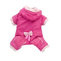 Lovely Winter Dog Jumpsuit Overalls Down Parkas Thick Warm Pet Clothes For Large and Small Puppy Dogs Red Pink XS S M L XL XXL