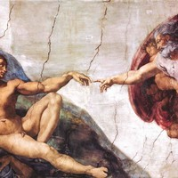 Michelangelo Creation of Adam Poster 24x36