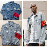 Denim Rinsed Denim Jacket [10368007235]