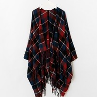 New Look Check Wrap Cape Scarf