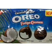 Nabisco, Oreo Fudge Cremes, Coconut Delight, 11.3oz Bag (Pack of 4)