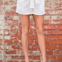 All Tied Up Shorts, Ivory