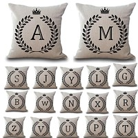Cotton Linen Throw Pillow Covers Personalized