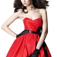 Clarisse Strapless Baby Doll Homecoming Dress 1325