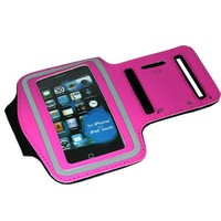 ASleek Gym Running Sport Workout Armband Case Compatible With iPhone 4/4S and 3G/3GS-Hot Pink