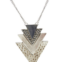 Tiered Chevron Long Necklace   Wet Seal
