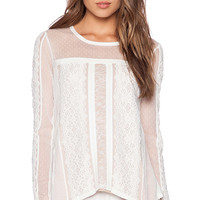 BCBGMAXAZRIA Addyson Top in White