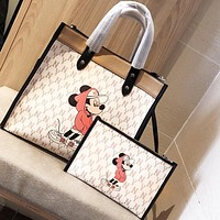 Coach's New Carriage Printed Pattern Foundry Tote Bag White