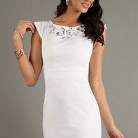 White Cocktail Dress with Open Back by XOXO