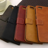 """Premium Wallet Flip Leather Case With Stand Photo Frame Card4.7"""" 5.5"""" For Apple iPhone 6plus Cases For iphone4 4s 5 5s Phone Bags Covers"""