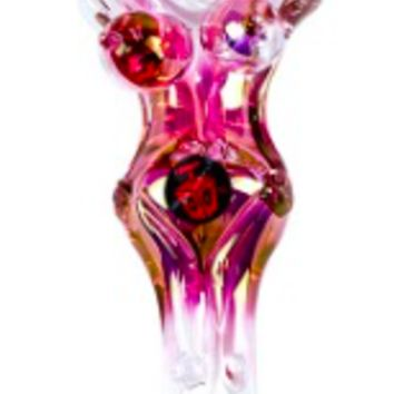 Dynomite Glass - GOLD FUMED NEKKID LADY SPOON