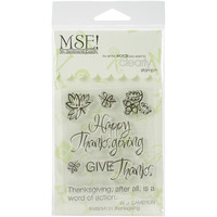 """My Sentiments Exactly Clear Stamps 3""""""""X4"""""""" Sheet-Thanksgiving Quote"""