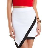 Color Block Asymmetrical Mini Skirt by Charlotte Russe