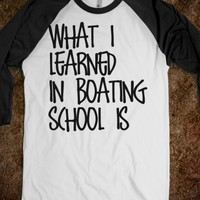 What I Learned in Boating School