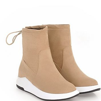 Hot style sells flat suede boots  shoes