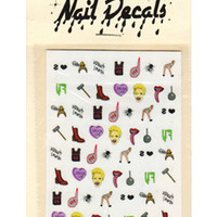 MILEY NAIL DECALS