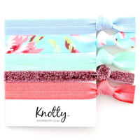 Knotted Hair Ties | Cocktail | Bright