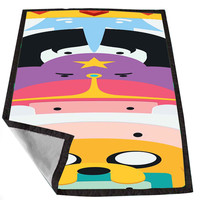 Adventure Time Time Totem Finn and Jake Primarybts d42fc3cb-647a-4408-8e6f-1b19363d5ac9 for Kids Blanket, Fleece Blanket Cute and Awesome Blanket for your bedding, Blanket fleece *02*