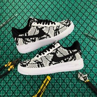 Nike Air Force 1 Flyknit 2.0 White/black - Best Online Sale
