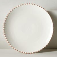 Pearl-Drop Dinner Plate by Anthropologie in White Size: Dinner Dinnerware