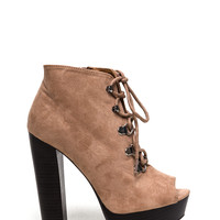 Hook It Up Chunky Lace-Up Booties