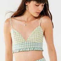 UO Leanna Gingham Bra Top   Urban Outfitters