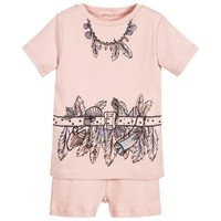 Girls Pink Beachcomber Pajama Set
