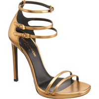 Saint Laurent Triple Ankle Strap Sandal at Barneys.com