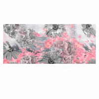 "Zara Martina Mansen ""Floral Blush"" Pink Gray Luxe Rectangle Panel"