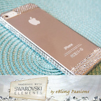 100% auth. SWAROVSKI ELEMENTS Clear Crystal iPhone 5 5s Bling Hard Case Cover (w/ LCD Film)