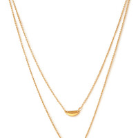 FOREVER 21 Tiered Half Moon Necklace Gold One