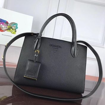 prada women leather shoulder bags satchel tote bag handbag shopping leather tote crossbody 244