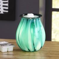 Better Homes and Gardens Tanzanite Art Glass Wax Warmer - Walmart.com