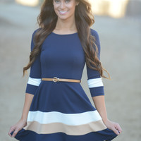 Annabella Dress - Navy