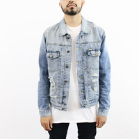 Jacob Denim Distressed jacket