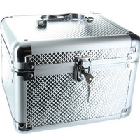 Guylond Carry All Trunk Train Case with Makeup and Reusable Aluminum Case