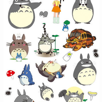 Waterproof Stickers: Rilakkuma & Totoro Style Travel/Luggage/Vacation A4 Stickers for Computer/Bike Musical Instruments/Sports Equipment