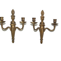Brass Wall Sconce Brass Candle Holder Bronze Wall Sconces Bronze Candle Holder Roman Torches Neoclassical Sconces