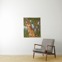 The Serval and the Butterfly Tapestry