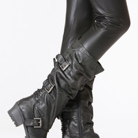 Qupid Slouchy Calf Reactor Boot