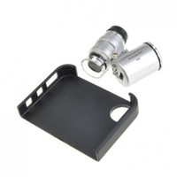 Neewer Portable 60X Zoom Microscope Micro Lens For Apple iPhone 4 4S With LED Light